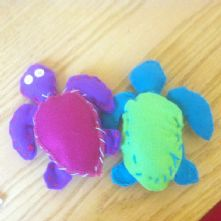 Beginner's Tortoise Soft Toy Sewing Kit